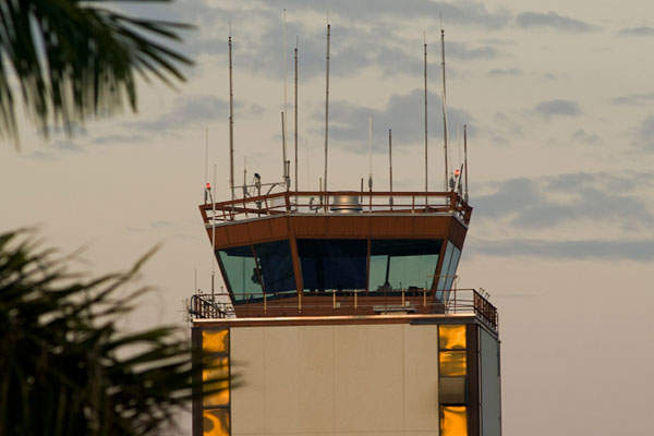 The Airport Control Tower, also called as Sarasota Tower, is located on the north-east side of the airfield. Image: courtesy of Sarasota Manatee Airport Authority.