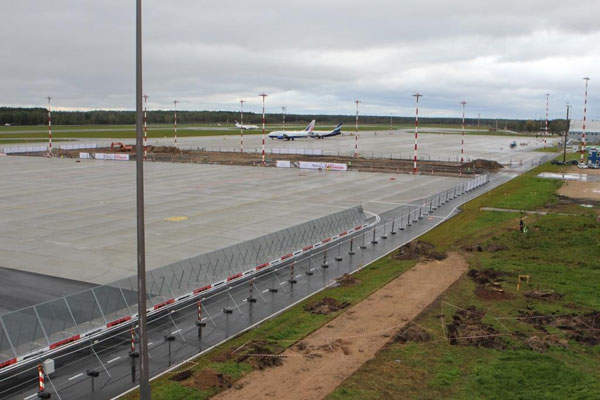The construction works for the terminal expansion project started in September 2014. Image courtesy of Riga International Airport.