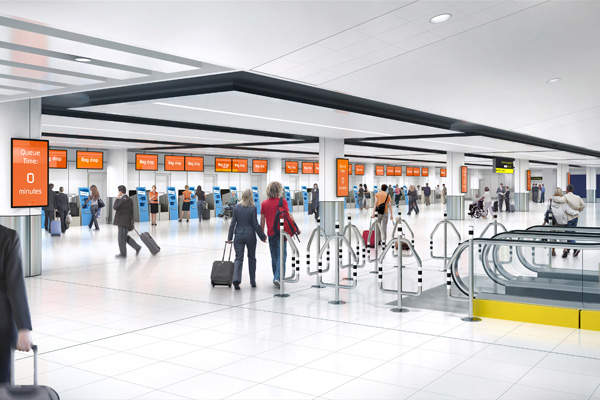 Gatwick Airport will invest £36m ($56m) to build a new check-in area in the North terminal. Image courtesy of Gatwick Airport Limited.