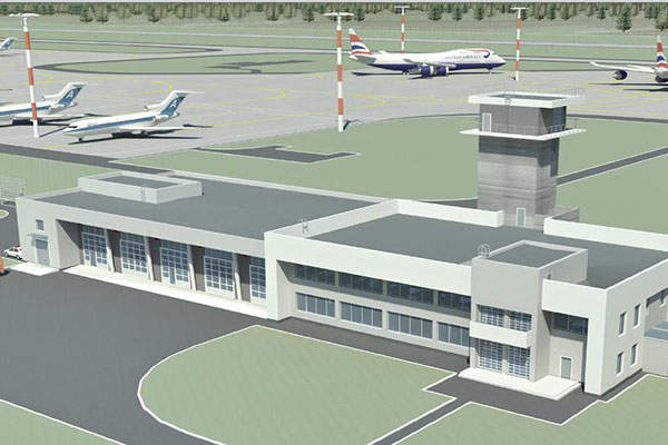 """The terminal building will be spread over 50,600m² of area. Image: courtesy of FSUE """"Aeroproject""""."""