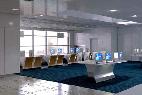 The ticket lobby in the main terminal will be expanded to incorporate new technology and check-in facilities.