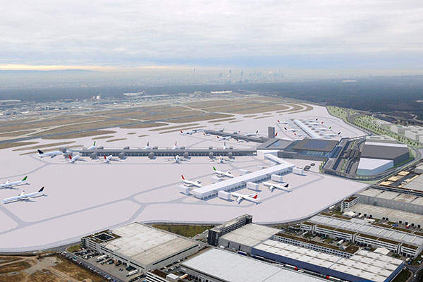 First phase of the terminal construction will be completed by 2022. Credit: Frankfurt Airport.