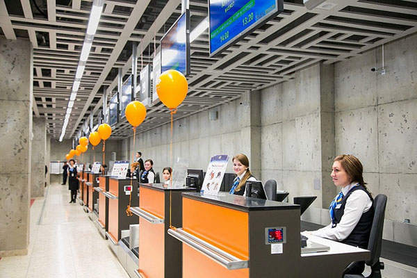 The terminal 2 features 13 check-in desks. Image: courtesy of Ufa International Airport.