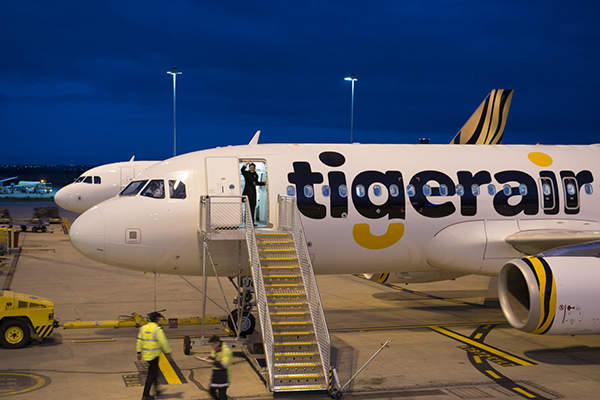 Tigerair Australia flight TT206 was the first to depart from the new terminal. Image courtesy of Australia Pacific Airports (Melbourne) Pty Ltd.