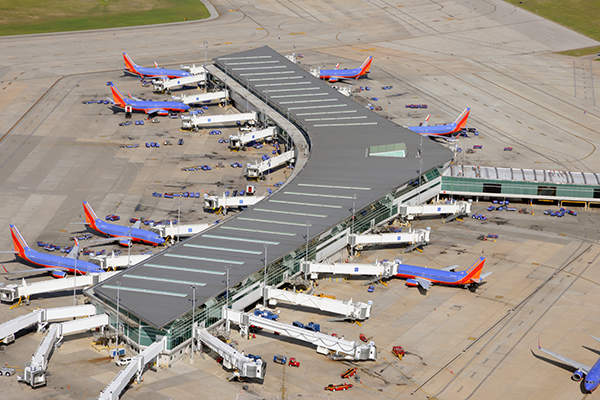 The international terminal has five gates. Image courtesy of Houston Airport System.