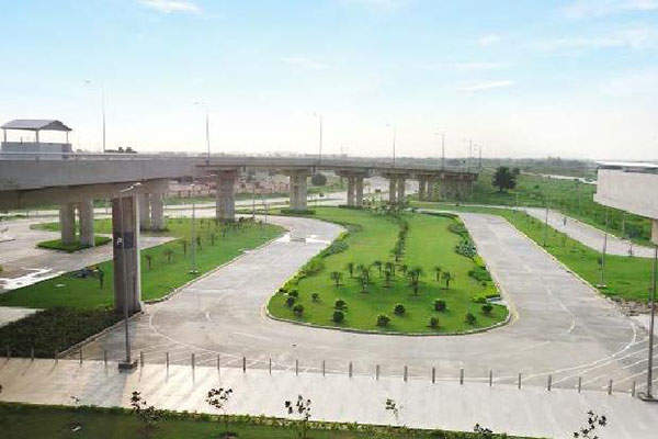 The terminal has a green design that incorporates eco-friendly features.  Photo courtesy of Airports Authority of India.