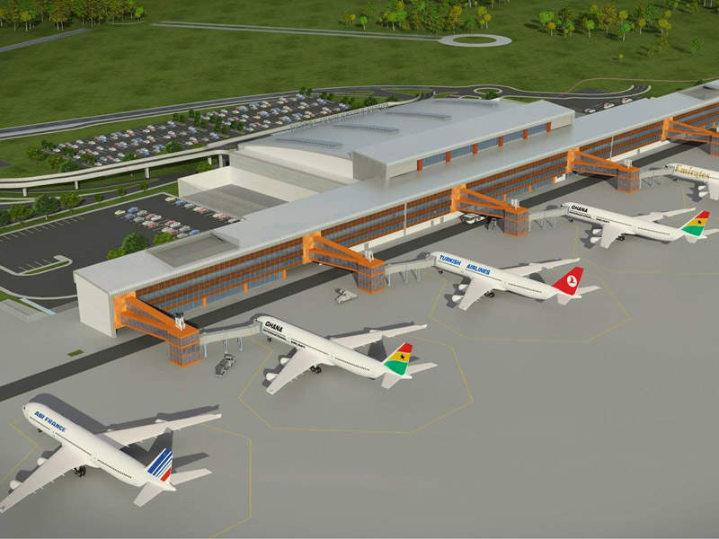 Terminal 3 at KIA has six aircraft contact stands. Image courtesy of Ghana Airports Company Limited (GACL).