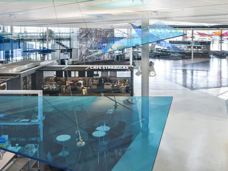 The design integrates artistic and cultural elements. Credit: Aéroports de Montréal.
