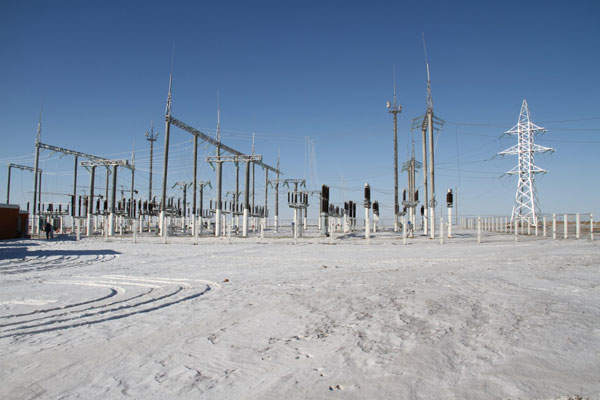 The Khushigt 110/10kV substation was opened in January 2014. Image courtesy of NUBIA.