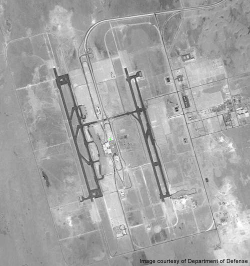 Satellite image of the King Fahd airport. Credit: Department of Defense.