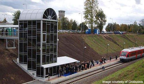 Vilnius airport railway station.