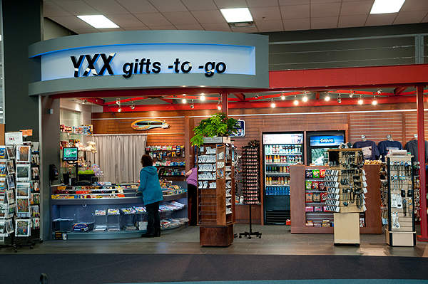 A gift shop located at the Abbotsford airport terminal. Image courtesy of Abbotsford Airport Authority.