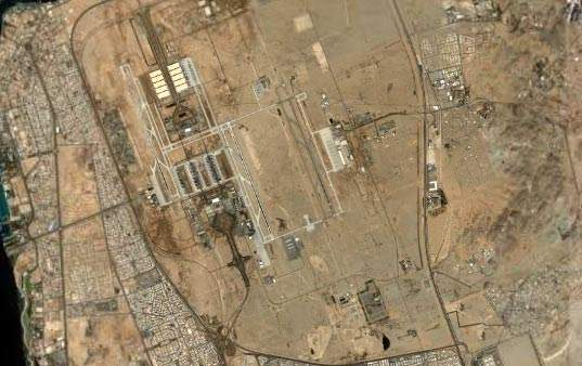 Aerial view of King Abdul Aziz International Airport.