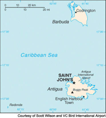 Antigua and Barbuda is a dual-island nation with one international airport.