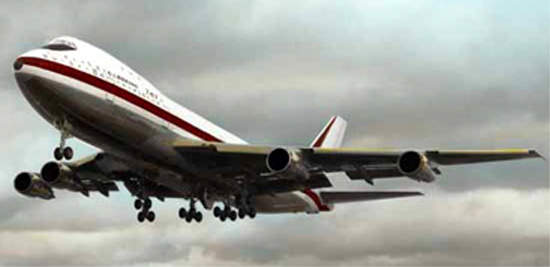 The old airport did not have a runway long enough to allow a fully laden 747 to take off.
