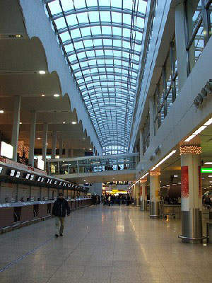 Glasgow Airport terminal prior to the Skyhub project.