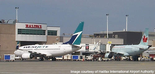 Halifax Robert L Stanfield International Airport has two runways.