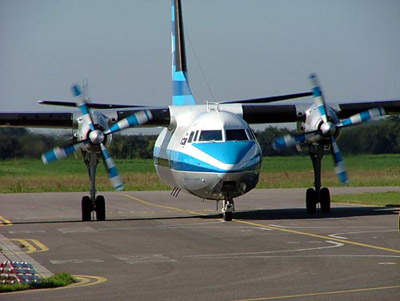 The Fokker F-27 is used a great deal at Henderson Executive Airport.