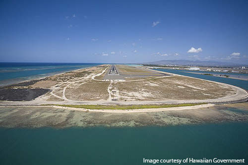 The Reef runway at the airport.