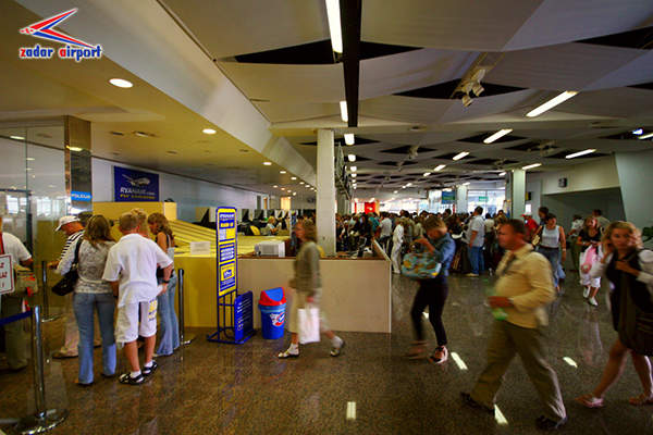 Zadar International Airport handled about 371,256 passengers in 2012. Image courtesy of Zadar Airport.