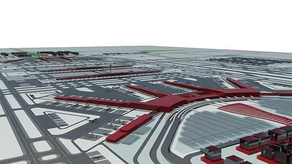 The new airport will be spread across an area of 2679.01ha. Image courtesy of copyright NACO.