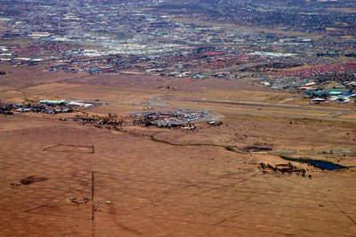 Aerial view of Jomo Kenyatta International Airport.