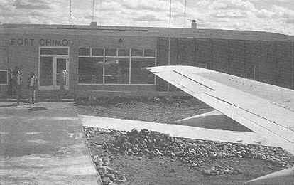 The airport when it first opened as Chimo airbase in 1942.