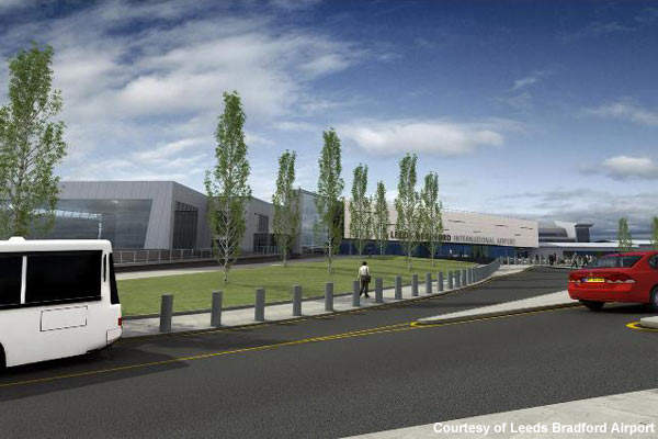 Roads and parking will also be improved at Leeds Bradford Airport.