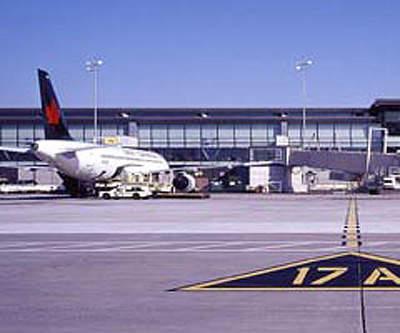 An Air Canada jet landing at Ottawa International Airport.