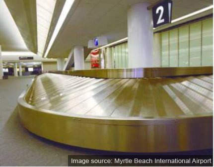 The main Myrtle Beach terminal has special baggage conveyors to handle golf bags (there are 100 golf courses in the vicinity of the airport).