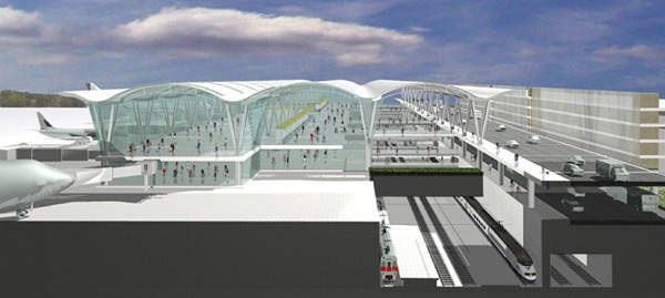 The new Western Terminal creates an exciting opportunity to build a truly world-class intermodal transportation centre that would directly link rail and other types of ground transportation with the airlines.