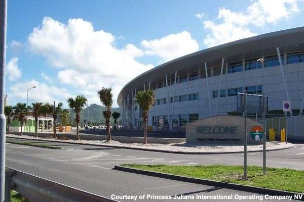 The exterior of the new Princess Juliana $80m terminal building.