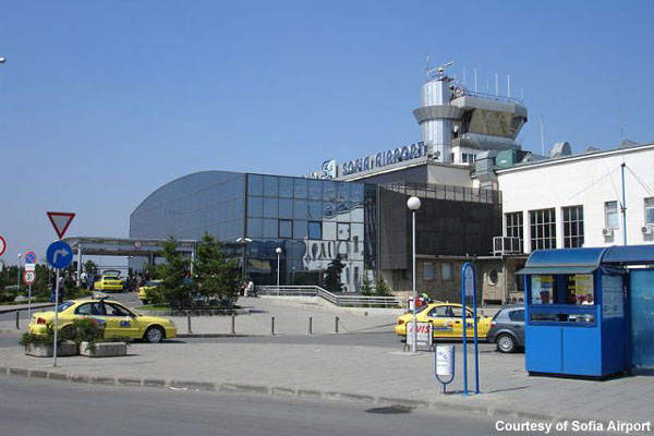 The old and new integrated together at Sofia Airport.