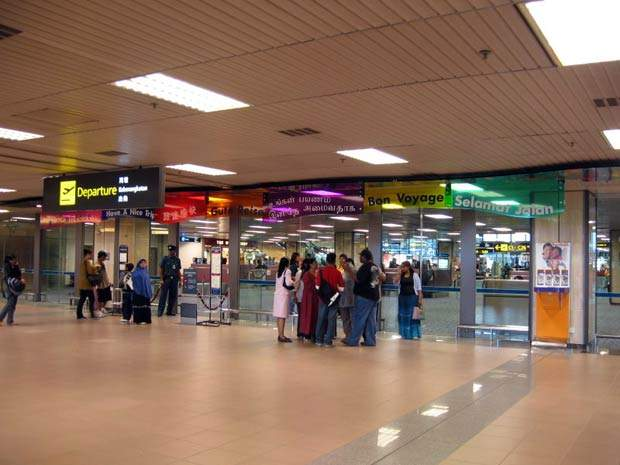 The departure hall of Changi Airport's terminal 1.