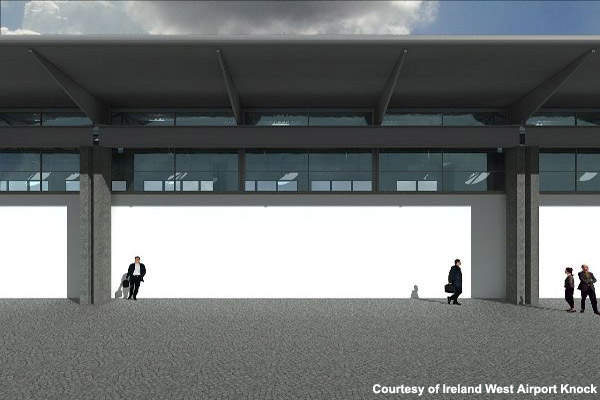 The terminal building extension will give the airport an increase in capacity of 300,000 passengers a year.