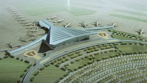 The first phase of the Tianjin Binhai Airport expansion will have 22 contact gates.
