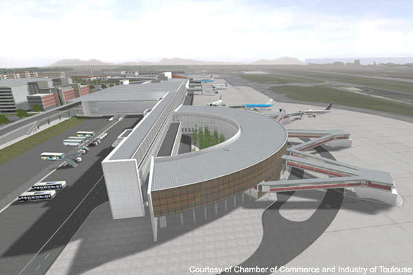 Toulouse-Blagnac Airport will have more terminal boarding gates following the improvements.