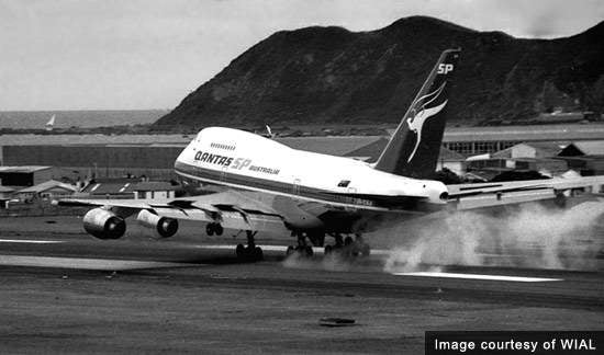 The largest aircraft previously able to use the runway at Wellington was the 747 SP a short bodied version of the 747 able to use shorter runways. Now the 787 and the A350 will extend the usefulness of the short runway into more international destinations.