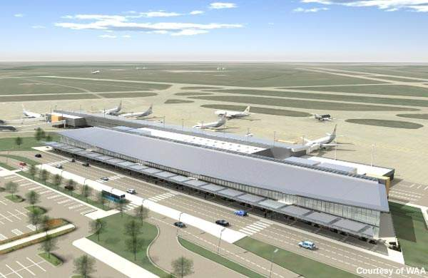 Passengers are enjoying the new retail facilities and improved parking at Wichita Airport.