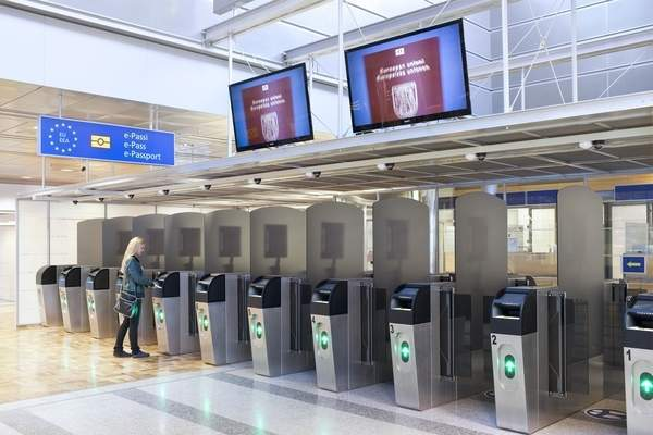 Helsinki Airport has 20 automatic border control checkpoints. Image courtesy of Finavia Corporation.