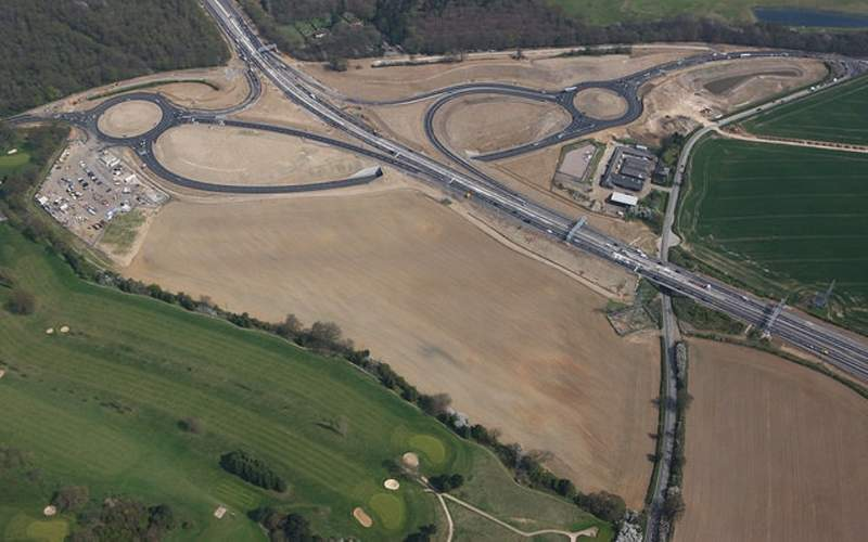 The access roads to London Luton airport are being improved. Credit: London Luton Airport.