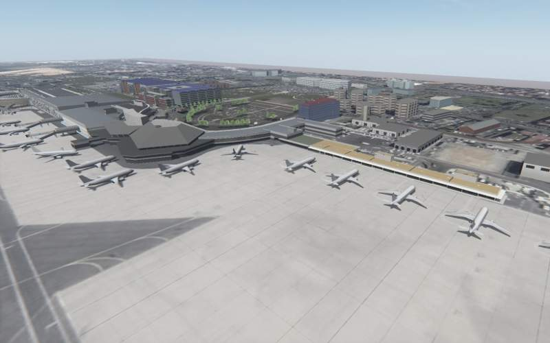 A new pier connected to Hall A will be constructed to accommodate additional aircraft. Image courtesy of Aéroport Toulouse-Blagnac.