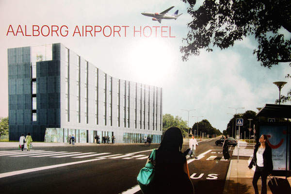 The Bühlmann Airport Hotel at Aalborg International Airport will be completed in October 2014. Image courtesy of Aalborg Lufthavn.