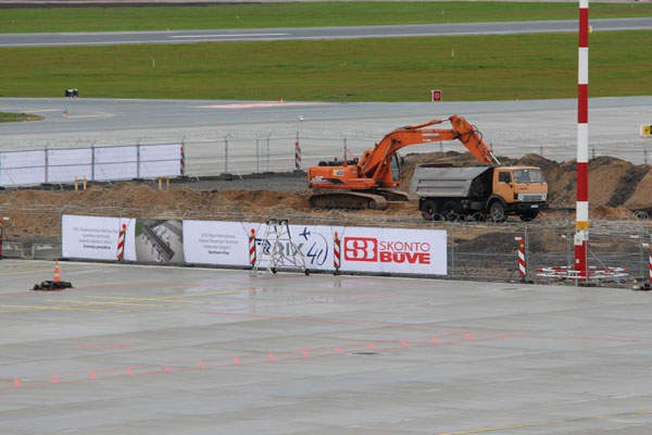 Other infrastructure development works are also being undertaken at the airport. Image courtesy of Riga International Airport.
