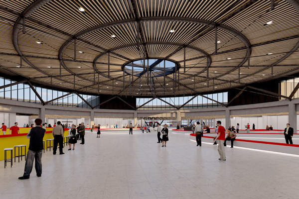 The terminal has plenty of space for retail stores and passenger services.