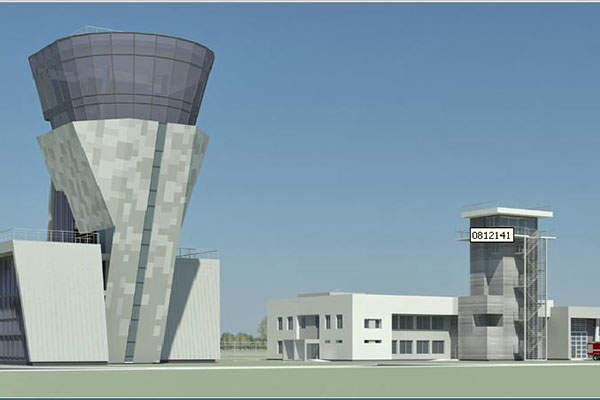 """The Yuzhny airport project also includes the construction of a control tower. Image: courtesy of FSUE """"Aeroproject""""."""