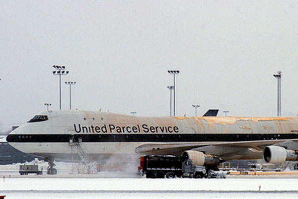UPS' worldwide air hub known as Worldport is located at the Louisville International Airport. Image: courtesy of laserbub.