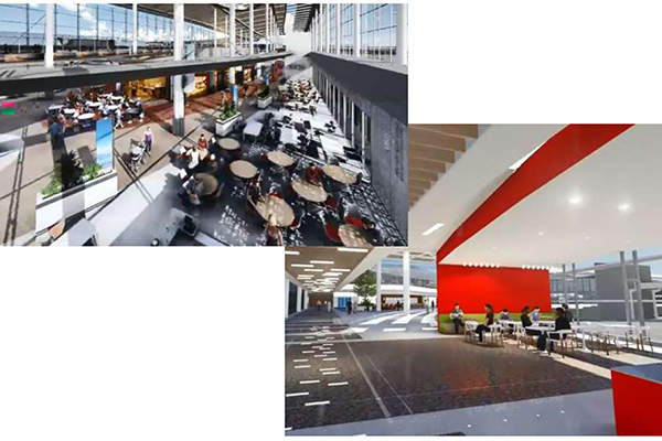 Modern concessions will reflect best practices from around the world. Image: courtesy of Houston Airport System.