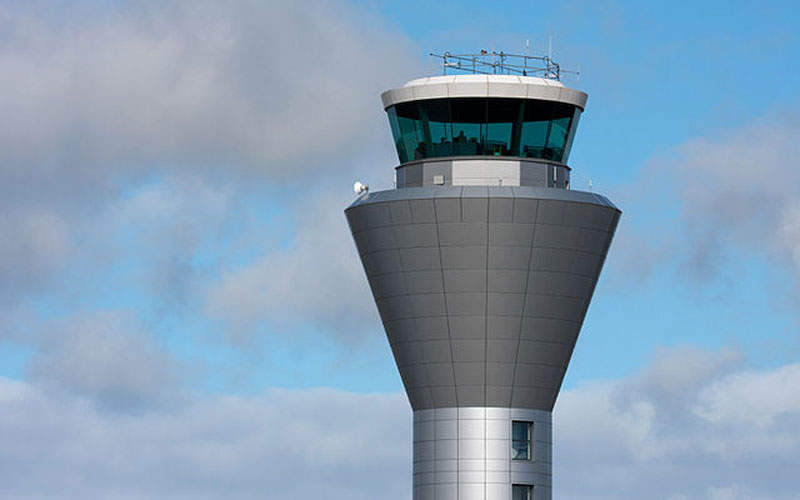 A new air traffic control building and tower was opened in 2010. Image courtesy of Dan Marsh.