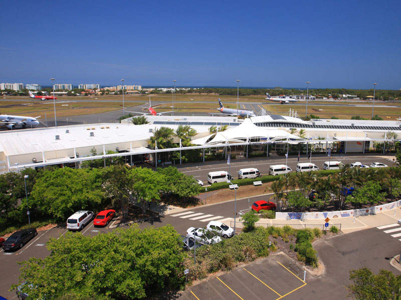 The existing car parking at Sunshine Coast airport can accommodate more than 700 vehicles. Image courtesy of Sunshine Coast Regional Council.